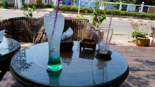 Pfefferminz-Soda im Café Sisouk