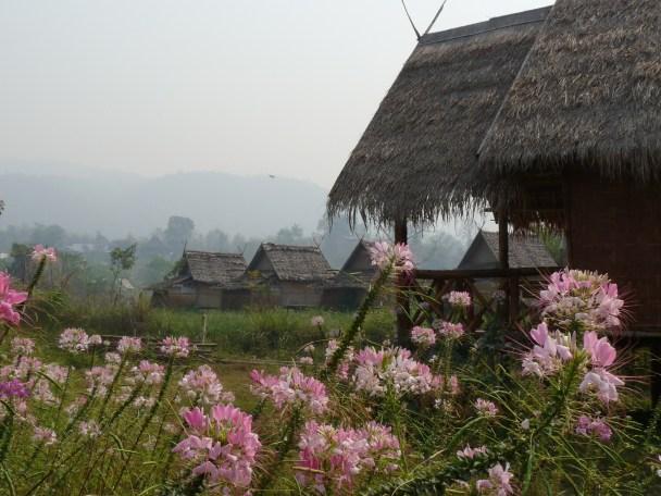 Morgennebel in Pai (Nord Thailand). Nur wenig später brennt die Sonne.