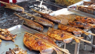 Steckerlfisch in Thailand