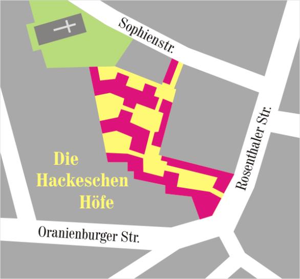 Karte der Hackeschen Höfe, Wikipedia Author Manfred Brückels